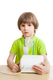 Little child with nebulizer Stock Photos