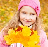 Little child outdoors Royalty Free Stock Image
