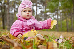 Little child in the park. Royalty Free Stock Images