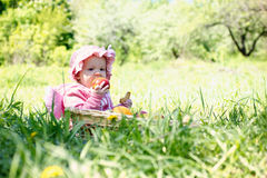 Little child in the park Stock Image