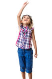 Little child at party hand up Stock Photography