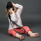 Little child with photo camera Royalty Free Stock Photography