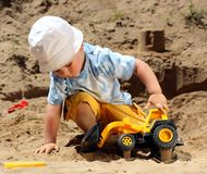 Little child play stock photography
