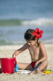 Little child play with sand Royalty Free Stock Images