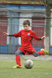 Little child playing football or soccer Royalty Free Stock Photos
