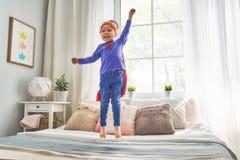 Child is playing superhero Royalty Free Stock Photo