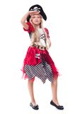 Little child. Portrait of little girl in pirate costume Royalty Free Stock Photos