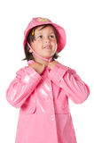 Little child with raincoat Stock Photography