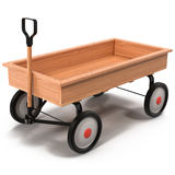 Little Child's Toy Wagon isolated on white 3D Illustration Royalty Free Stock Image
