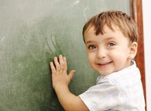 Kid at school classroom Stock Photography