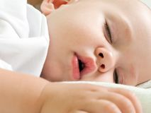 Little child sleeping Stock Photo