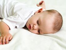 Little child sleeping Stock Image
