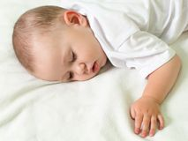 Little child sleeping Royalty Free Stock Photography