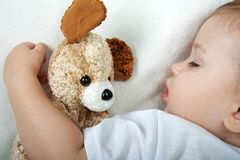 Little child sleeping Royalty Free Stock Image