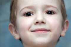Little child smiling Stock Images