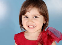 Little Child Smiling Girl Portrait Royalty Free Stock Photography