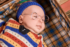 Little child in spectacles. Stock Images