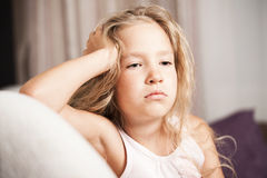 Little child stress Stock Photo