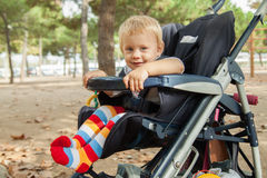 Little child in stroller Royalty Free Stock Images