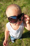 Little child in sunglasses Stock Photos