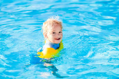 Little child in swimming pool Royalty Free Stock Photo
