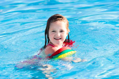 Little child in swimming pool Royalty Free Stock Photography
