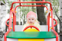 Little child on swing Royalty Free Stock Photography