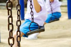 Little child on a swing Stock Photography