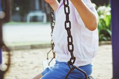 Little child on a swing Royalty Free Stock Photo