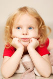 Little child thinking Royalty Free Stock Images