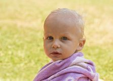 Little child in a towel Royalty Free Stock Photography