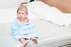 Little child in towel Royalty Free Stock Image