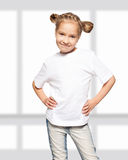 Little child in white t-shirt Royalty Free Stock Photos