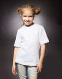 Little child in white t-shirt Royalty Free Stock Photo