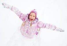 Little child in winter Stock Photo