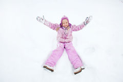 Little child in winter Royalty Free Stock Photo