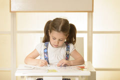 Little child writing letters Royalty Free Stock Photos