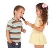 Little children with ice cream Royalty Free Stock Photos