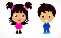 Little children illustration Stock Photography