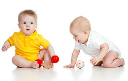Little children with musical toys Stock Images