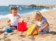 Little children  at sea Royalty Free Stock Photo
