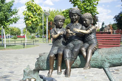 Little children statue Royalty Free Stock Photography