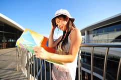 Free Little Chinese Asian Tourist Girl Feeling Lost Stock Photography - 16172352