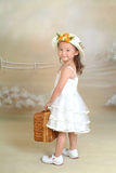 A little chinese girl. With toys Royalty Free Stock Image