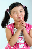 A little chinese girl. A beautiful chinese girls with a pair of big eyes Stock Photo