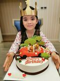 Happy birthday girl with cake