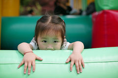 The little chinese girl's eyes Stock Images