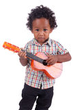 Little Chinese  indian  with guitar Royalty Free Stock Images