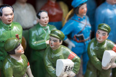 Little chinese tin slodiers Royalty Free Stock Photo