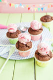 Little chocolate muffins Stock Photos